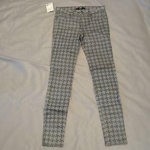Else sparkle houndstooth skinny pants